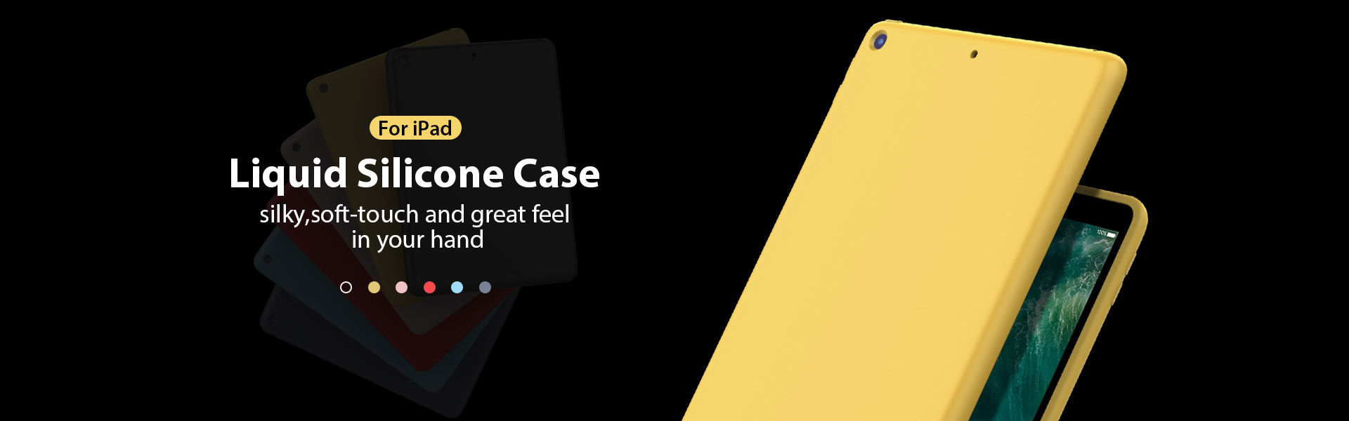Liquid silicone case for ipad