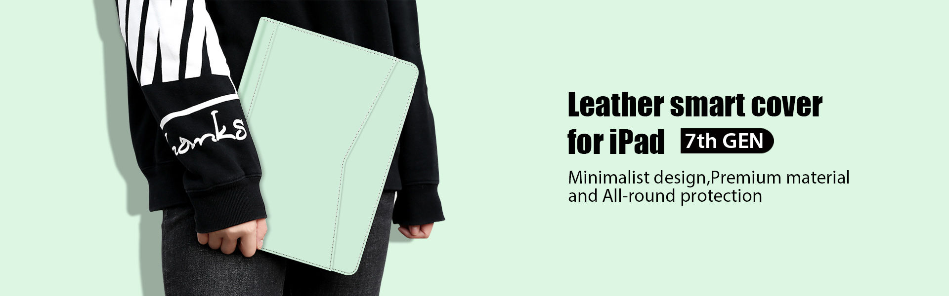 Leather case for iPad 7th GEN.
