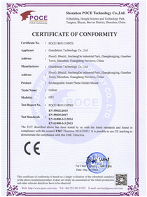 battery bike mount CE certificate