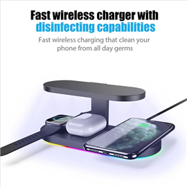 Wireless Charger with UVC sanitizer