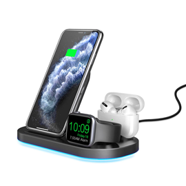 3 in 1 foldable fast charging station